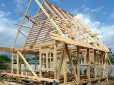 каркас даху будинку
