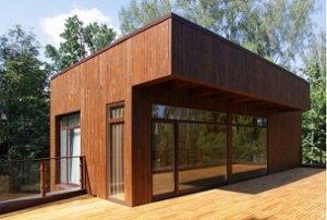 Плоский дах дерев'яного будинку