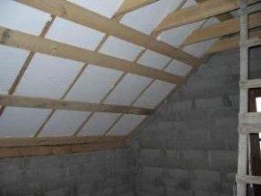 Утеплення даху пінопластом