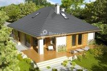 3d проект будинку з вальмовой дахом