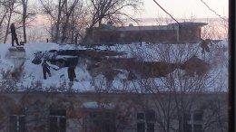 Дах житлового будинку впала під вагою снігу (фото)