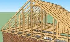 Строительство двускатной крыши частного дома своими руками пошагово 66